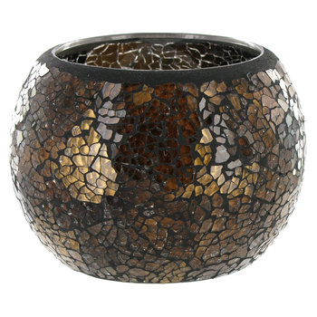 Mosaic Glass Roly Poly Votive Candle Holder